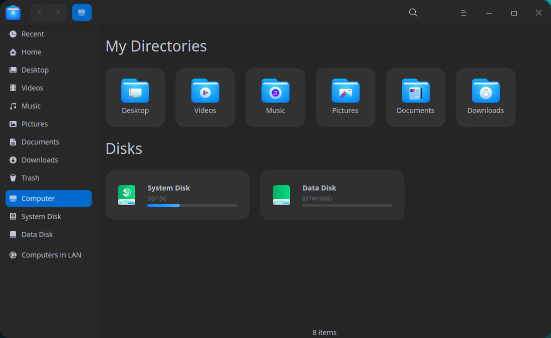 Deepin 20 File Manager