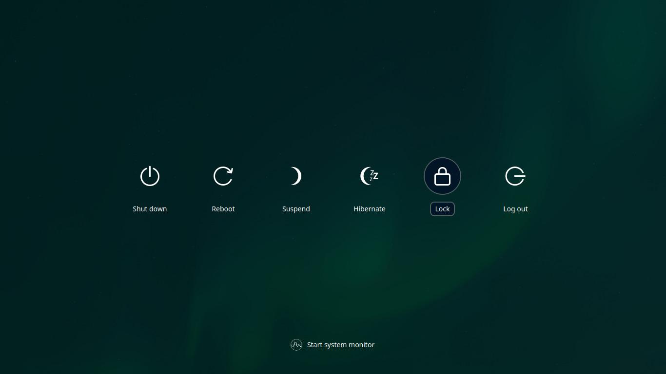 Deepin 20 Shutdown Screen