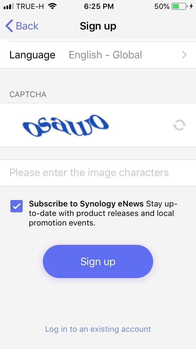 Sign up DS Finder App