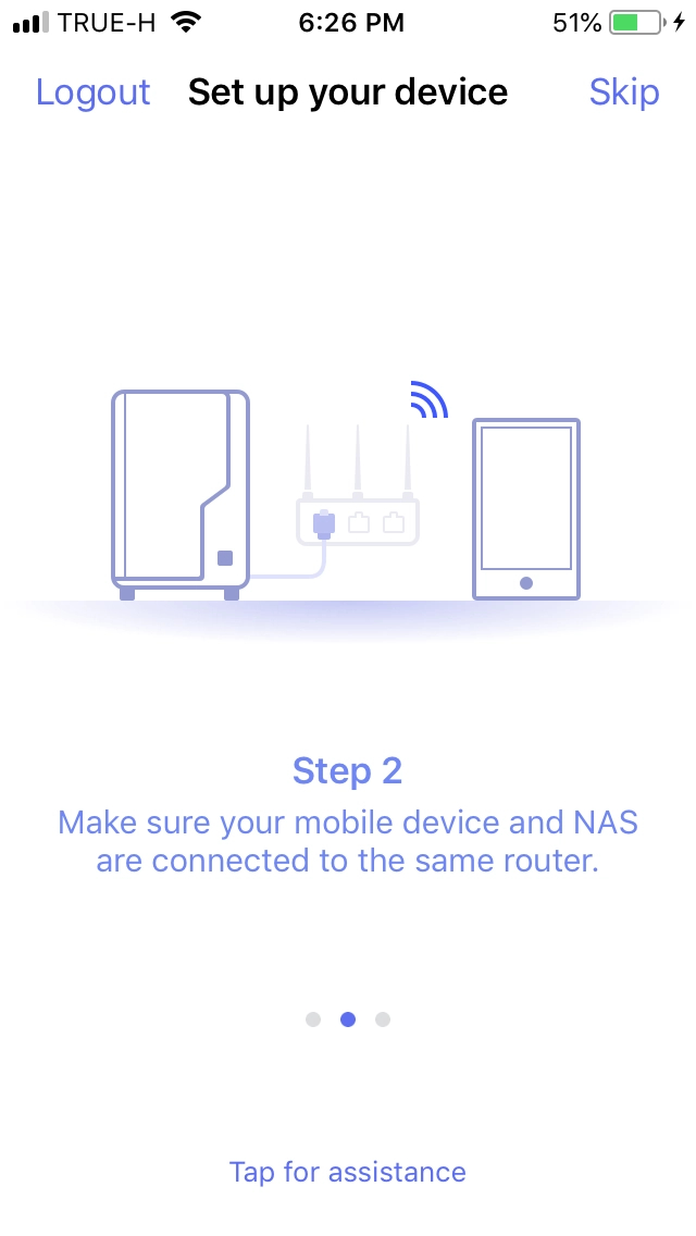 Login DS Finder App and Install NAS