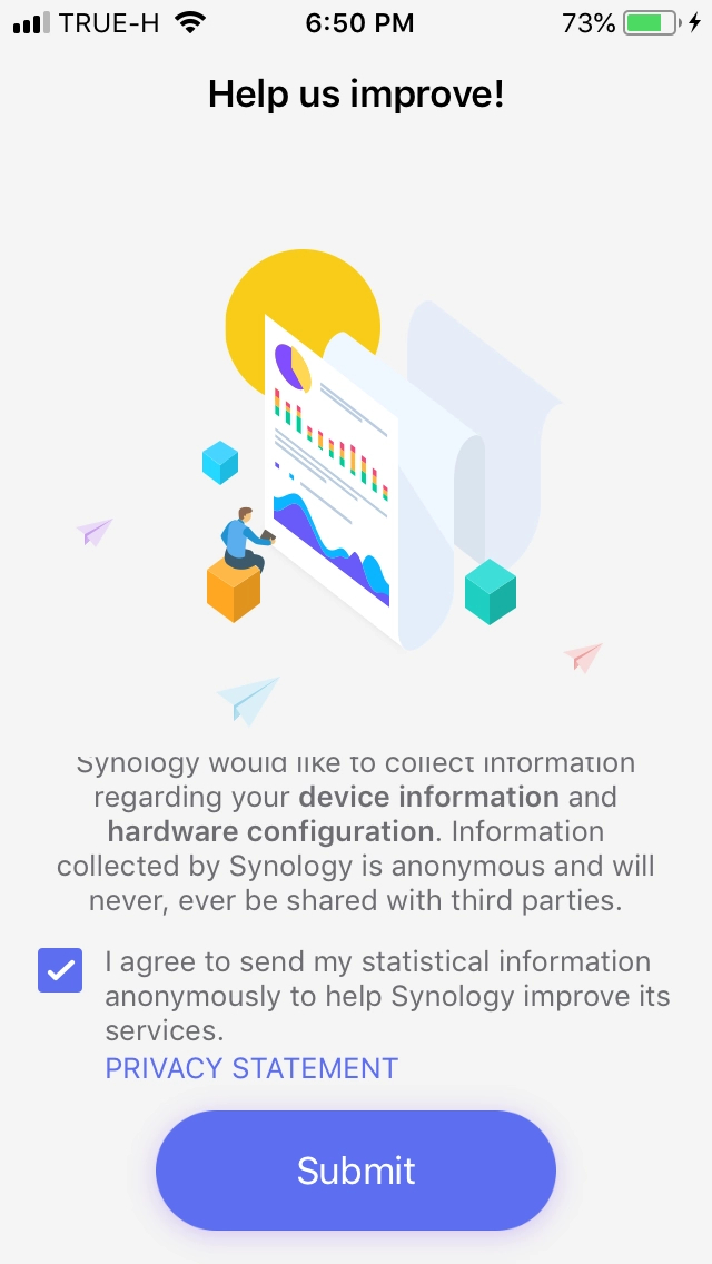 Send data to Synology
