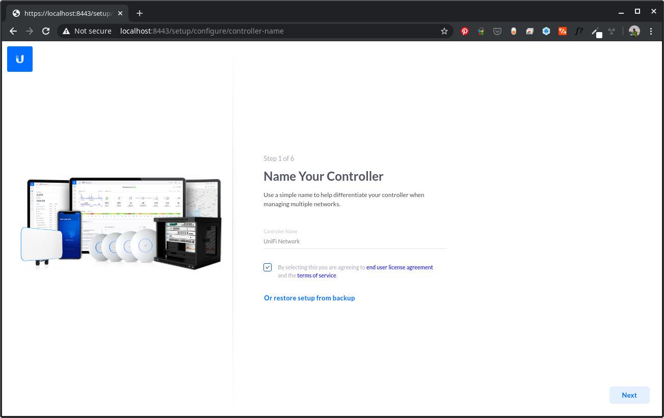 Install Unifi Controller