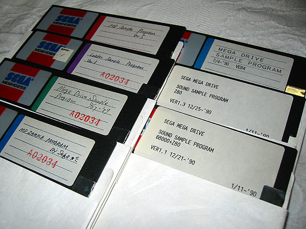 Console/SegaMegaDrive/Pictures/MegaDriveSampleProgramDisks.png