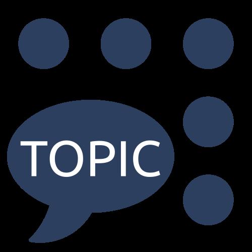Topics RViz plugin logo