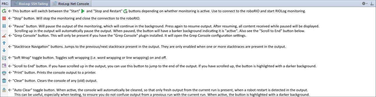 RIOLog Monitoring · Wiki · Javaru / FRC IntelliJ IDEA Plugin