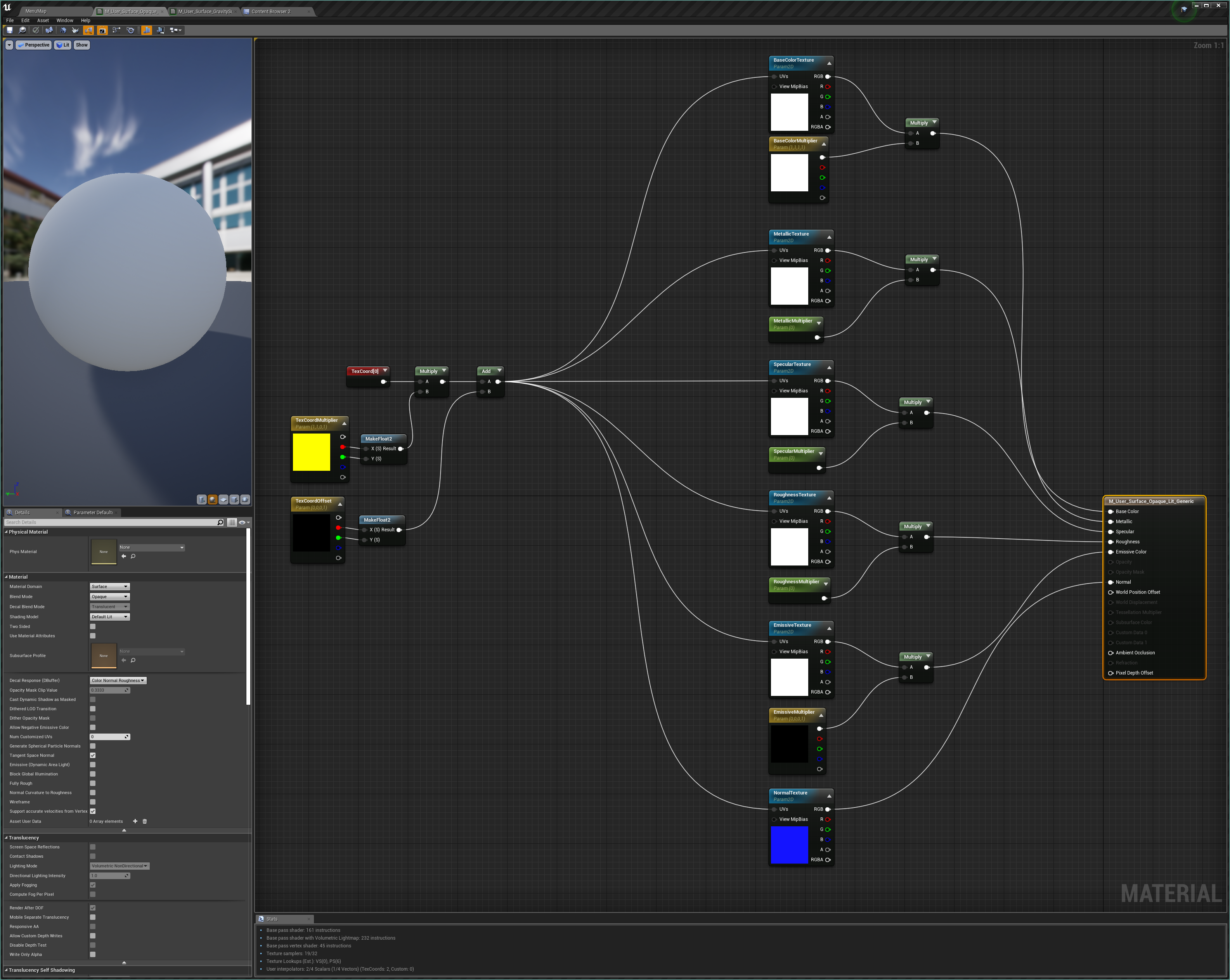 The new setup for the rolledout:mat_surface_opaque_lit_generic material base