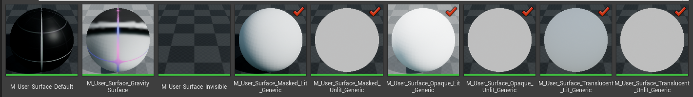 The current base material selection