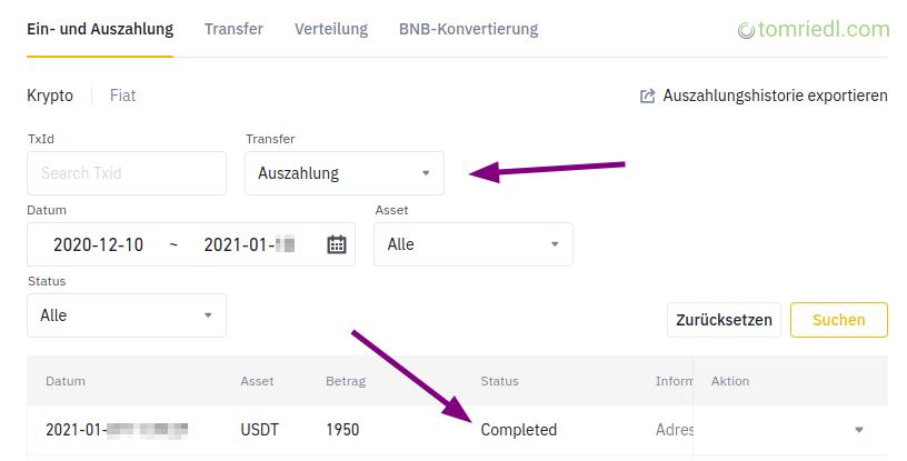 Implementation/docs/md/krypto/binance/auszahlen-ueberweisen-von-binance-auf-andere-plattform-oder-wallet-withdraw/erfolgreiche-transaktion.png