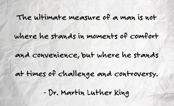 Quote from Dr. Matin Luther King