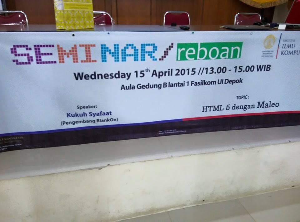 Seminar Reboan