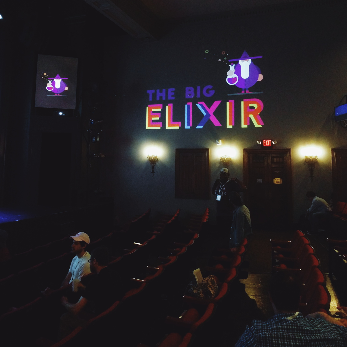 The Big Elixir in a theater