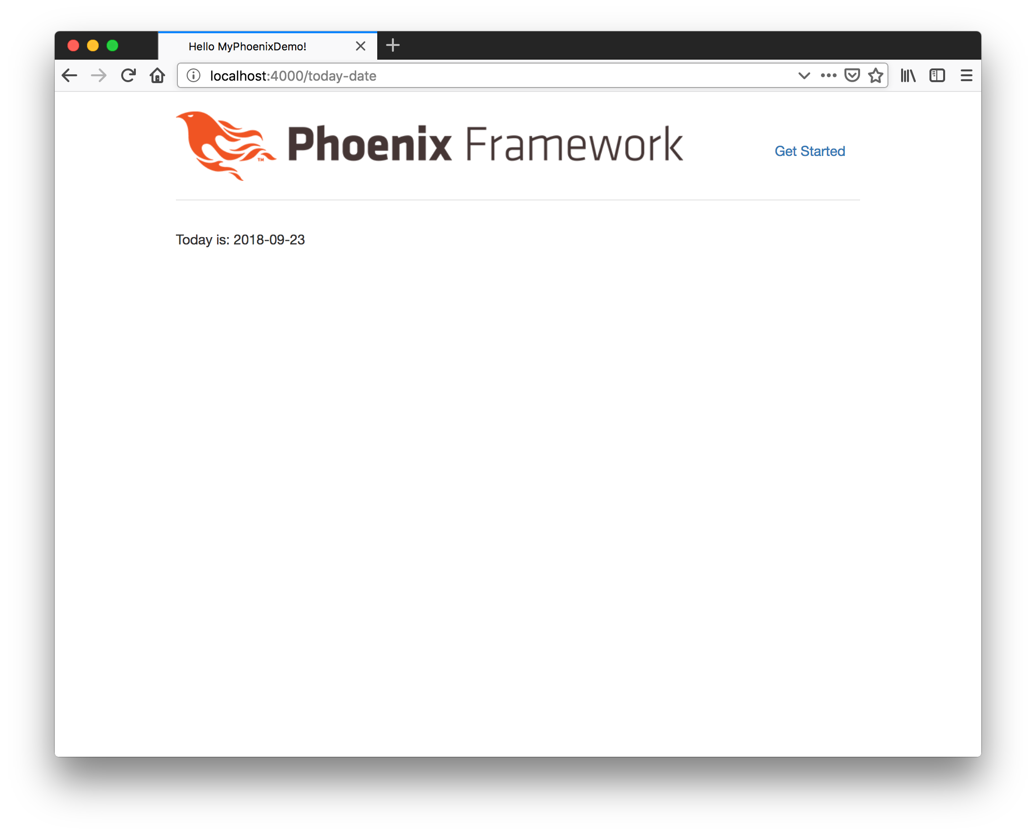 Phoenix today date application