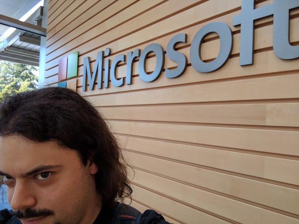 Me at Microsoft