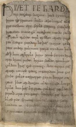 Beowulf - British Museum MS Cotton Vitellius A xv-a129.jpg