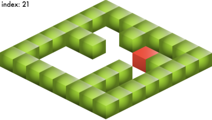 Isometric map made using Tiled Editor