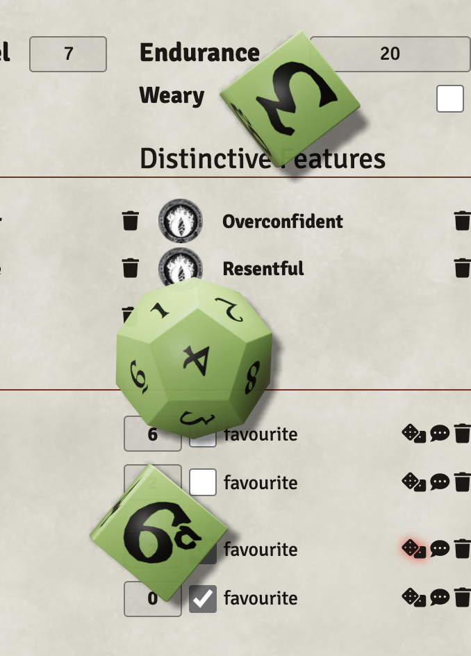 Rolling The One Ring special dice