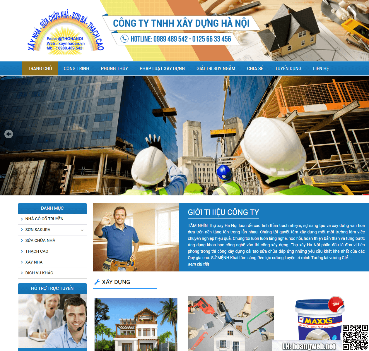 Mẫu web xây dựng - sửa nhà thumbnail