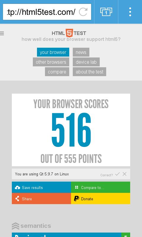 Qt WebBrowser Screenshot 0