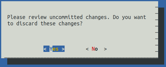 confirmation that your are done with changes