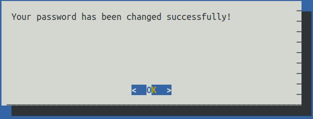 UI showing success