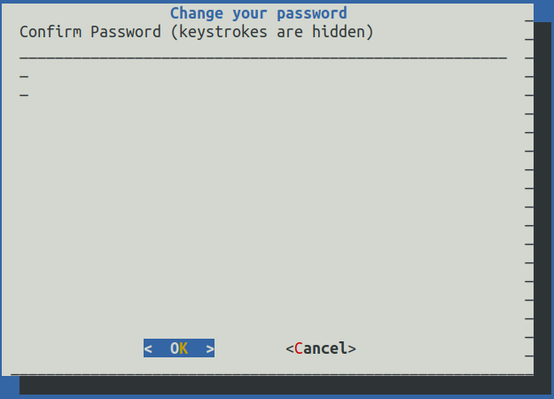 UI asking for password confirmation