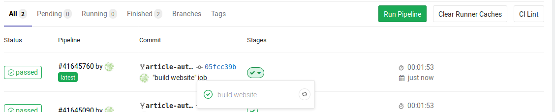 content/articles/2018-12-22-auto-deploy-static-pelican-website-with-gitlab/job-build-website-passed.png