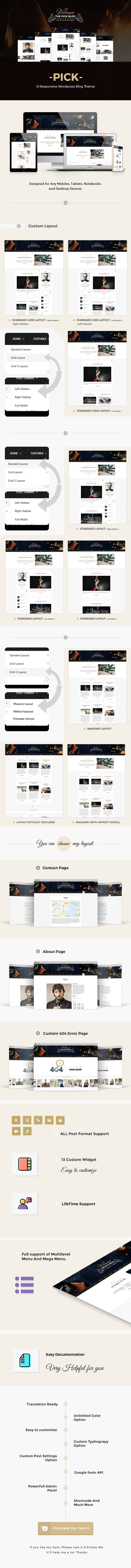 Pick - A Responsive WordPress Blog Theme
