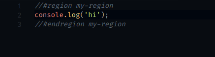 Named end region example