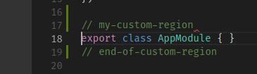 Custom delimiter example