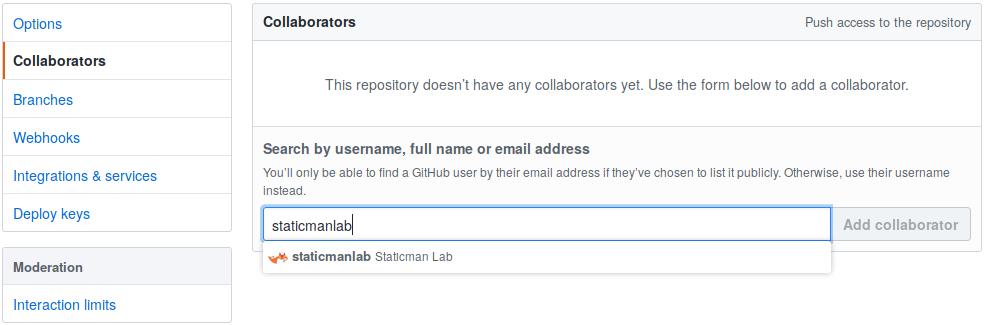 add staticmanlab on GitHub