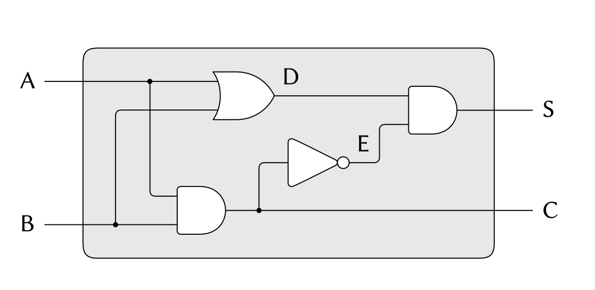 一位半加器电路